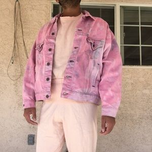 Pink Levi's denim trucker jacket
